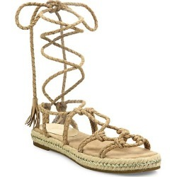 Caesar Suede Lace-Up Espadrille Sandals