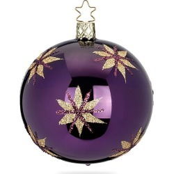 Inge's Christmas Decor Magic Stars Glass Ball Ornament - Purple found on Bargain Bro India from Saks Fifth Avenue for $18.00