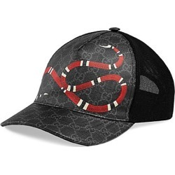 Gucci Men's Snake Baseball Cap - Black Black - Size Large found on MODAPINS from Saks Fifth Avenue for USD $390.00
