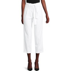 Saks Fifth Avenue Women's Belted Straight Pants - White - Size XS found on Bargain Bro from Saks Fifth Avenue OFF 5TH for USD $37.99
