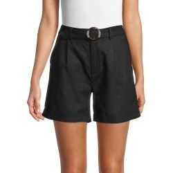 Saks Fifth Avenue Women's Tortoise Belted Shorts - Black - Size L found on Bargain Bro from Saks Fifth Avenue OFF 5TH for USD $30.39