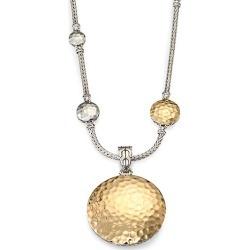 John Hardy Women's Palu 18K Yellow Gold & Sterling Silver Medium Round Enhancer - Gold Silver