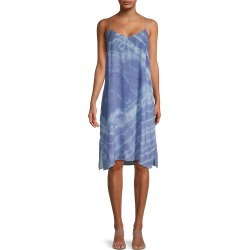 Nicole Miller Women's Tie-Dyed Silk-Blend Slip Dress - Blue Tie Dye - Size S found on MODAPINS from Saks Fifth Avenue OFF 5TH for USD $99.99