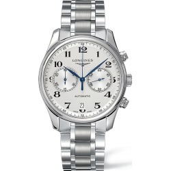 Longines Men's Master Collection Two-Tonal Stainless Steel Automatic Bracelet Watch - White - Size 0 found on MODAPINS from Saks Fifth Avenue for USD $2850.00