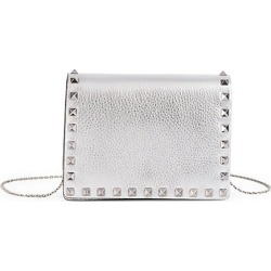 Valentino Women's Valentino Garavani Small Rockstud Metallic Leather Shoulder Bag - Silver found on Bargain Bro Philippines from Saks Fifth Avenue for $1225.00