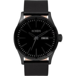 Analog Sentry 38 Black Leather Strap Watch found on MODAPINS from The Bay for USD $180.00