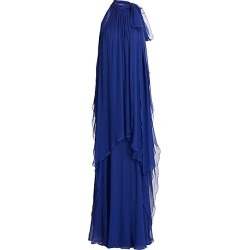 Alberta Ferretti Women's Tieneck Chiffon Halter Gown - Blue - Size 42 (6) found on MODAPINS from Saks Fifth Avenue for USD $3350.00