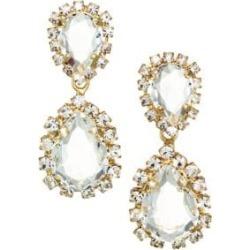 Crystal Dangle Goldtone Earrings