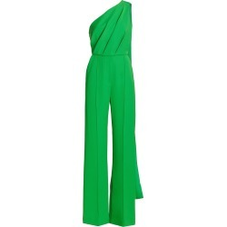 Elie Saab Women's Crepe One-Shoulder Sash Belted Jumpsuit - Grass Green - Size 6 found on MODAPINS from Saks Fifth Avenue for USD $2690.00