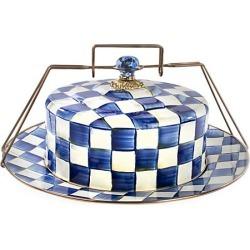 MacKenzie-Childs Royal Check Cake Carrier
