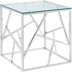 Table d'appoint en verre et chrome contemporaine found on Bargain Bro India from La Baie for $469.99