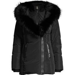 Mackage Women's Adali Fox Fur-Trimmed Down Puffer Coat - Black - Size Small