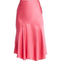 Helmut Lang Women's Asymmetric Satin Skirt - Neon Pink - Size 10 found on MODAPINS from Saks Fifth Avenue for USD $149.40