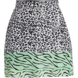 Animal-Print Sequin Mini Skirt found on Bargain Bro Philippines from Saks Fifth Avenue AU for $95.70