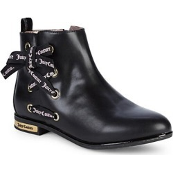 Girl's Side Ribbon Lace-Up Booties