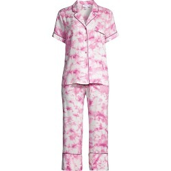 In Bloom Women's Montego Tie-Dye 2-Piece Pajama Set - Rose - Size Small