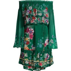 Camilla Women's Mythical Creatures Tiered Dress - Emeralds - Size Small found on MODAPINS from Saks Fifth Avenue for USD $239.70