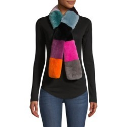 Savage Love Rex Rabbit Fur Colorblocked Pull-Through Scarf found on Bargain Bro India from Saks Fifth Avenue AU for $185.36