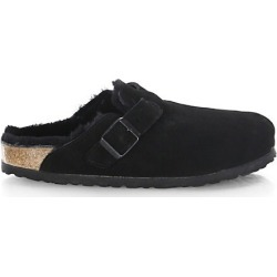 Birkenstock Women's Boston Shearling-Lined Suede Clogs - Black - Size 38 (7) found on MODAPINS from Saks Fifth Avenue for USD $165.00