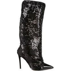 Alexandre Vauthier Women's Laura Sequin Tall Boots - Black - Size 35 (5) found on Bargain Bro Philippines from Saks Fifth Avenue for $1050.00