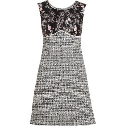 Giambattista Valli Women's Embroidered Floral & Tweed Sheath Dress - Black White - Size 38 (2) found on MODAPINS from Saks Fifth Avenue for USD $2930.00