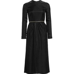 Brandon Maxwell Women's Satin Twill Gathered Midi Dress - Black - Size 12 found on MODAPINS from Saks Fifth Avenue for USD $897.75