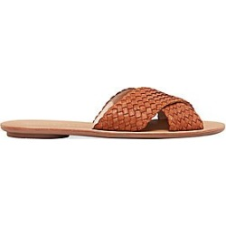 Loeffler Randall Women's Claudie Woven Leather Crossed Plank Slides - Tan - Size 5.5 Sandals found on MODAPINS from Saks Fifth Avenue for USD $225.00