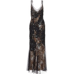 Amen Women's Leopard-Print Embroidered Sleeveless Maxi Dress - Black Leopard - Size 42 (4-6) found on MODAPINS from Saks Fifth Avenue for USD $1215.00
