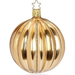 Inge's Christmas Decor Phantasy Glass Ball Ornament - Gold found on Bargain Bro India from Saks Fifth Avenue for $13.00