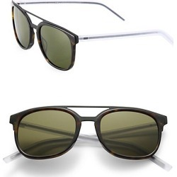 Dior Homme Men's Black Tie 22 53MM Round Panto Sunglasses - Havana found on MODAPINS from Saks Fifth Avenue for USD $185.00