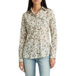 Relaxed-Fit Floral-Print Cotton Shirt found on GamingScroll.com from The Bay for $32.96