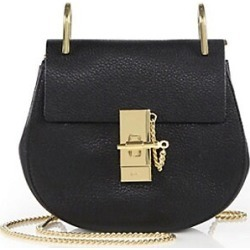 Chloé Women's Mini Drew Leather Saddle Bag - Black found on Bargain Bro Philippines from Saks Fifth Avenue for $1650.00