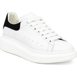 Alexander McQueen Women's Women's Suede & Leather Platform Sneakers - White Black - Size 38.5 (8.5) found on MODAPINS from Saks Fifth Avenue for USD $540.00