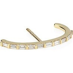 EF Collection Women's 14K Yellow Gold & Diamond Baguette Ultra Huggie Ear Cuff - Gold found on Bargain Bro India from Saks Fifth Avenue for $695.00