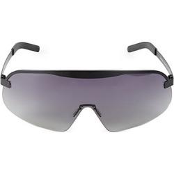 Illesteva Women's 140MM Hopper Gradient Matte Shield Sunglasses - Matte Black found on MODAPINS from Saks Fifth Avenue for USD $250.00