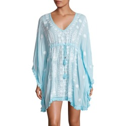 Irene Tassel-Trim Embroidered Caftan found on MODAPINS from Saks Fifth Avenue UK for USD $292.46