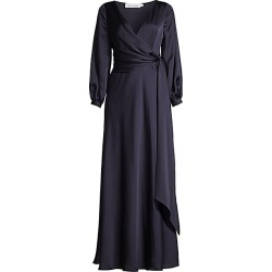 FAME AND PARTNERS Women's The Casella Wrap Gown - Navy - Size 8