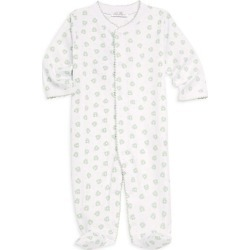 Kissy Kissy Baby's Homeward Printed Cotton Footie - Celery - Size 0-3 Months