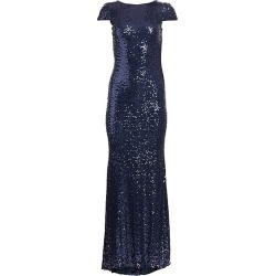Badgley Mischka Women's Sequin Cowl-Back Gown - Navy - Size 14 found on MODAPINS from Saks Fifth Avenue for USD $615.00