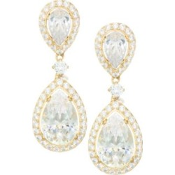 18K Goldplated Sterling Silver Framed Double Pear Drop Earrings found on Bargain Bro India from Saks Fifth Avenue AU for $164.20