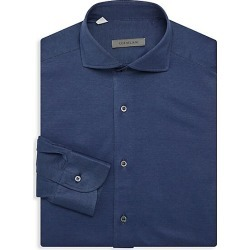 Corneliani Men's Jersey Pique Oxford Shirt - Indigo - Size 45 (18) found on MODAPINS from Saks Fifth Avenue for USD $110.62