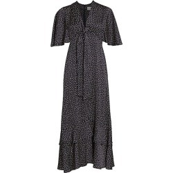 Alexis Women's Kasany Polka Dot Midi Dress - Navy And Beige - Size Large found on MODAPINS from Saks Fifth Avenue for USD $210.65