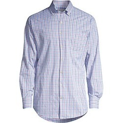 Peter Millar Men's Crown Sport Check Performance Shirt - Seasalt - Size XXL found on Bargain Bro Philippines from Saks Fifth Avenue for $139.00