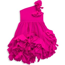Marchesa Notte Mini Little Girl's Miley One-Shoulder Ruffled Dress - Fuchsia - Size 2 found on MODAPINS from Saks Fifth Avenue for USD $395.00