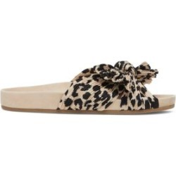 Caro Knotted Leopard-Print Slides found on Bargain Bro UK from Saks Fifth Avenue UK