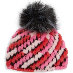 Jocelyn Kid's Faux Fur Knitted Pineapple Hat - Pink Multi found on MODAPINS from Saks Fifth Avenue for USD $65.00