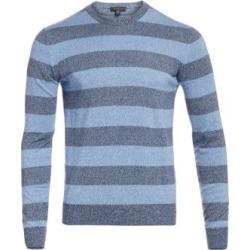 COLLECTION Striped Mouliné Cotton Sweater