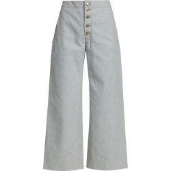 Corrigan Exposed Button-Fly Denim Wide-Leg Crop Pants found on Bargain Bro Philippines from Saks Fifth Avenue Canada for $248.36