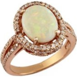 14K Rose Gold Diamond and Opal Ring found on Bargain Bro Philippines from The Bay for $1873.99