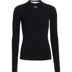 Off-White Women's Basic Long Sleeve T-Shirt - Black White - Size 16 found on MODAPINS from Saks Fifth Avenue for USD $365.00
